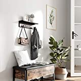 SONGMICS Entryway Hanging Coat Rack, with 4