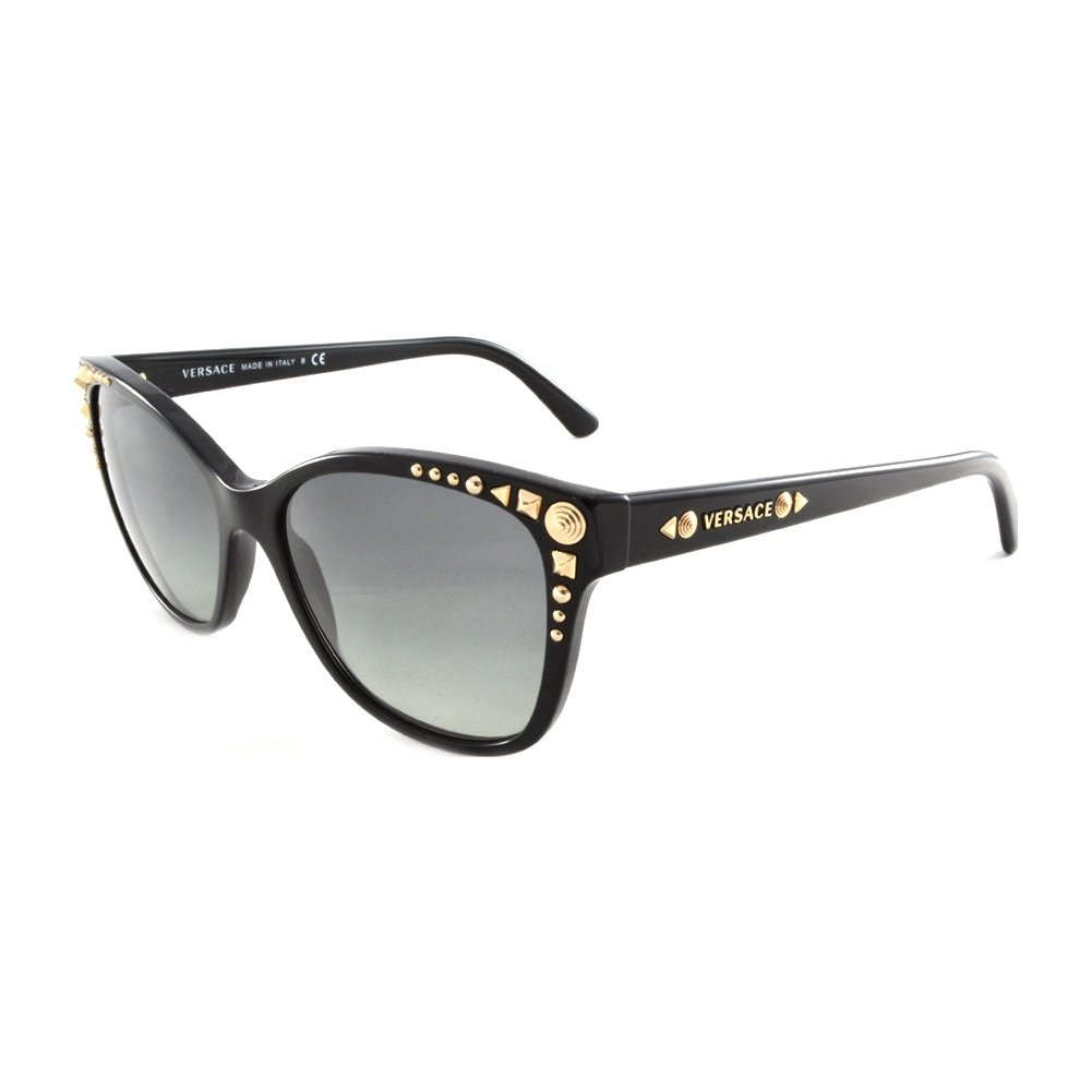 9c294c0789 Versace 4270 GB1 11 Black 4270 Studs Ladies Wayfarer Sunglasses  Amazon.in   Clothing   Accessories