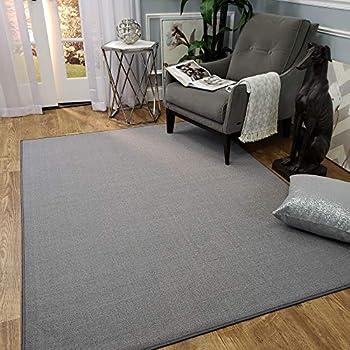 Amazon Com Maxy Home Area Rug 3x5 Solid Gray Rubber