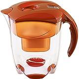 MAVEA 1005772 Elemaris XL  9-CupWater Filtration Pitcher, Tangerine