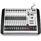 Vangoa Professional MX-12 USB Bluetooth Mixing Console 12 Channels 16 DSP DJ Audio Sound Mixer