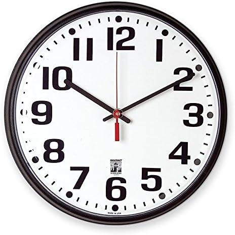 Amazon Com Skilcraft Clock Wall Selfset 12 Blk Home Kitchen