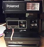 Polaroid OneStep Flash with Orange Stripe Instant Film Camera with Strap ***
