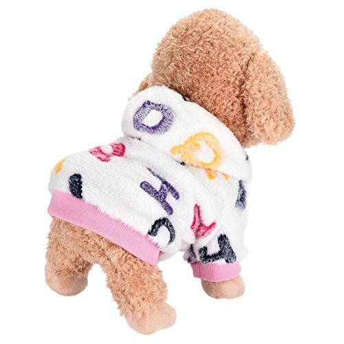 - Woaills Hot Sale!!Dog Flannel T-Shirt,Pet Warm Comfortable Autumn Winter New Clothes (S, Pink)