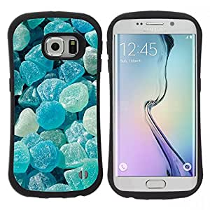 "Pulsar iFace Series Tpu silicona Carcasa Funda Case para Samsung Galaxy S6 EDGE , Crystal Meth Rocas caramelo Blue Beach"""