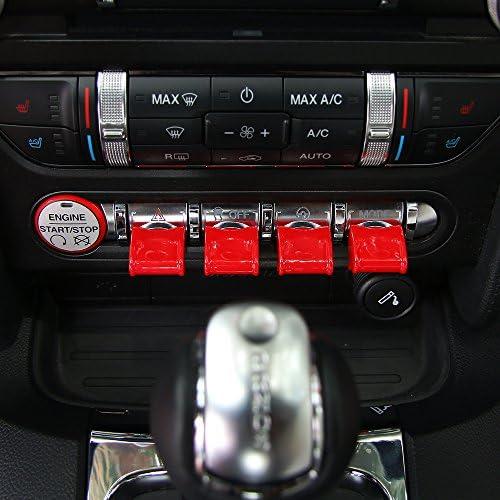 Mittelkonsole Armaturenbrett Schalter Button Cover Trim Für Ford Mustang 2015 2017 Auto