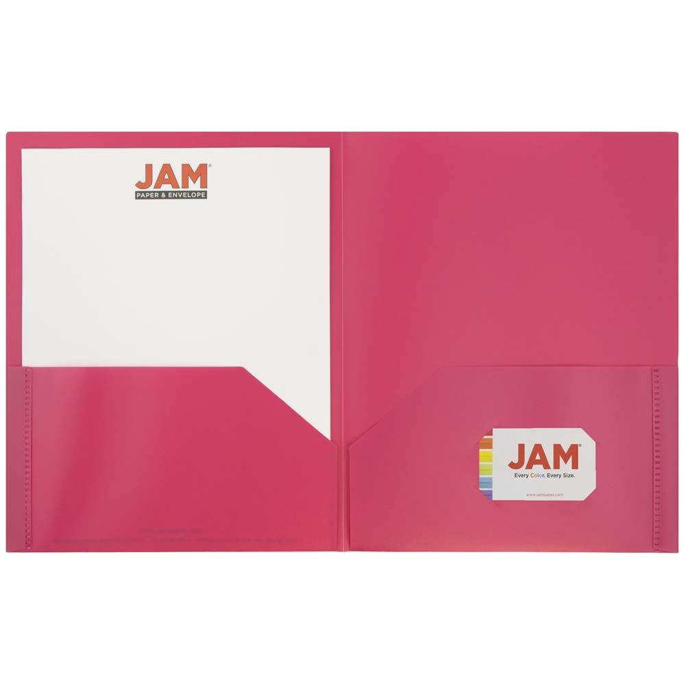 Amazon.com : JAM PAPER Plastic 2 Pocket School POP Folders ...
