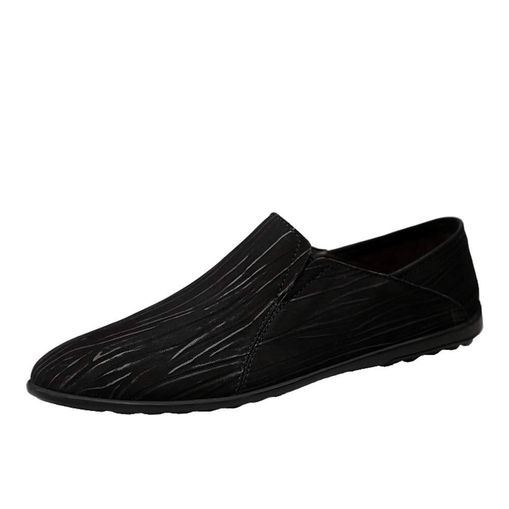 Schwarz Schwarz Schwarz CHENJUAN-schuhe Mode Schuhe, hochwertige Standardschuhe Herrenmode Driving Slipper Casual Persou ;nlichkeit Spleiszlig;en Seite Elastischer Guu ;rtel Einfache Leichte Stiefel Mokassins f17