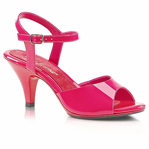 Favolose Belle-309 Donna 3 Tacco, Caviglia Con Cinturino 1/8 In Plateau, Sandalo Rosa Caldo / Rosa Caldo