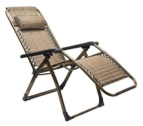 World Famous Sports Deluxe Zero Gravity Lounge Chair, Bronze