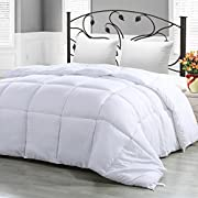 Utopia Bedding Twin Comforter Duvet Insert White - Quilted Comforter with Corner Tabs - Hypoallergenic, Plush Siliconized Fiberfill, Box Stitched Down Alternative Comforter by