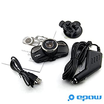 Grandangolo CE - 1 ANNO GARANZIA Registrazione in Loop Telecamera per auto Blackbox Ambarella A12 Full HD 2 K Visione Notturna EPOW/® DAB201 Dash Cam Capteur-G