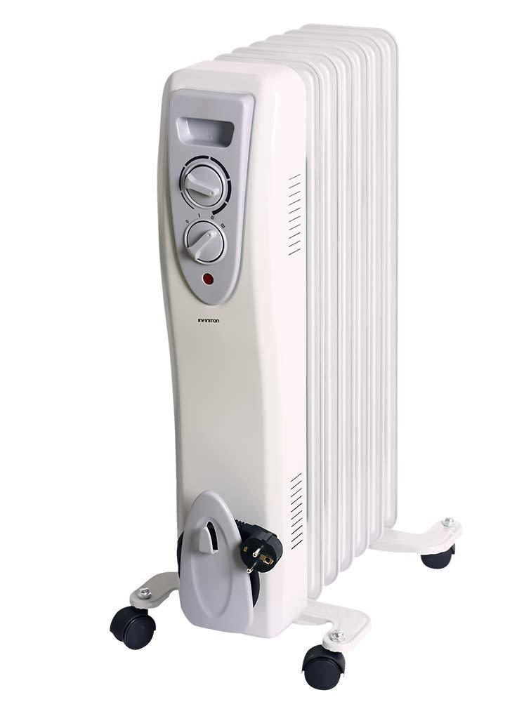 Mini 700W Control de Temperatura con termostato mec/ánico, 3 Niveles de Potencia, Soporte Anti-vuelco con Ruedas IN RADIADOR DE Aceite INFINITON Desde 700W//3000W