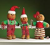 Plush Christmas Gingerbread Family Adorable Holiday Decor