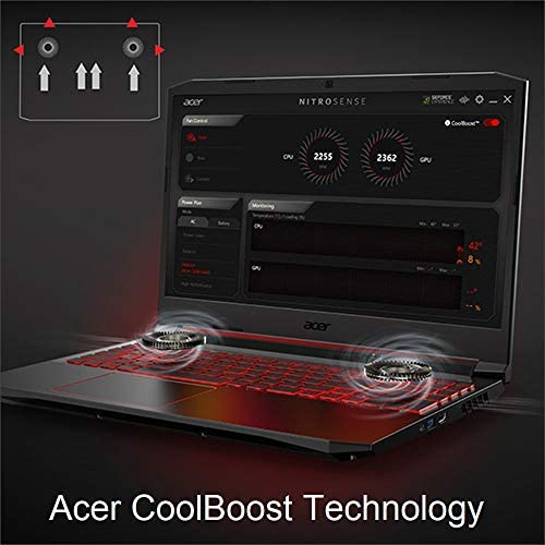 Acer Nitro 5 Gaming Laptop, 10th Gen Intel Core i5-10300H,NVIDIA GeForce GTX 1650 Ti, 15.6″ Full HD IPS 144Hz Display, 8GB DDR4,256GB NVMe SSD,WiFi 6, DTS X Ultra,Backlit Keyboard,AN515-55-59KS 510IPk6P52L
