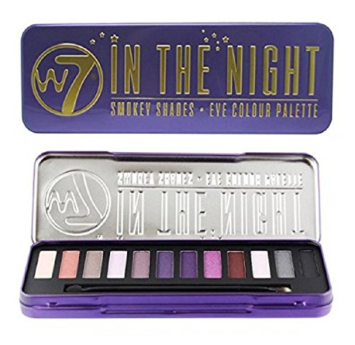 W7 In The Night Smokey Shades Eye Colour Palette Tin, 12 Eye