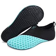 Barerun Barefoot Quick-Dry Water Sports Shoes Aqua Socks for Swim Beach Pool Surf Yoga for Women MenFeature1. They float for easy retrieval.2. Its comfy and dries easily.3. Let your feet were protected from the hot sand.4. Waterproof neoprene...