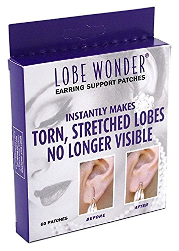 Lobe Wonder Repair Earring Support Patches 60 Count (3 Pack)