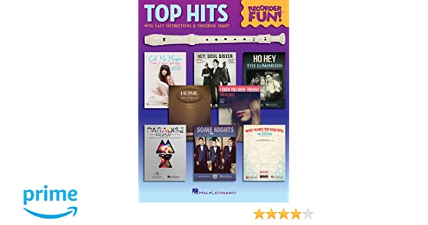 Amazon Top Hits Recorder Fun With Easy Instructions