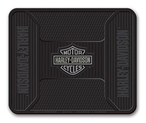 Harley Davidson Truck Floor Mats - Harley-Davidson Utility Mat, Elite Series Bar & Shield, Non-Carpeted, Gray 1107G