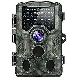 """【Latest Version】distianert 16MP 1080P Trail Camera, Hunting & Game Camera with 2.4"""" LCD Display, 0.6s Trigger Time, 80ft 130° Detection Coverage, and 47pcs 850nm IR LEDs for Wildlife Monitoring & Home"""