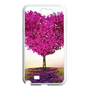 Diy Beautiful Heart Phone Case for samsung galaxy note 2 White Shell Phone JFLIFE(TM) [Pattern-1]
