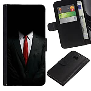 All Phone Most Case / Oferta Especial Cáscara Funda de cuero Monedero Cubierta de proteccion Caso / Wallet Case for HTC One M8 // ANONYMOUS SUIT