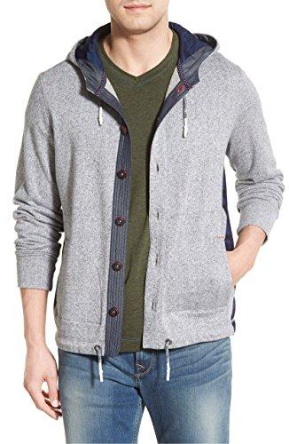 (Robert Graham Men's Magnus Long Sleeve Knit Hoodie, Charcoal, Small )