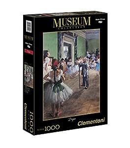 Clementoni - Puzzle de 1000 piezas, D'Orsay, diseño Degas: Lección De Danza (392148)