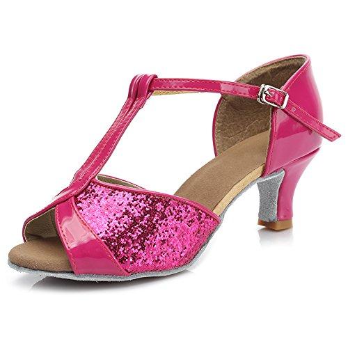 Ballroom De Lentejuelas Rosa es Zapatos Baile Latino Swdzm estándar tacón 259 Baile Mujer 5cm Modelo gx8wnqECS