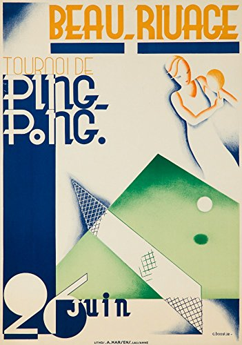 Beau - Rivage - Ping - Pong Vintage Poster artist: Boost Switzerland c. 1932