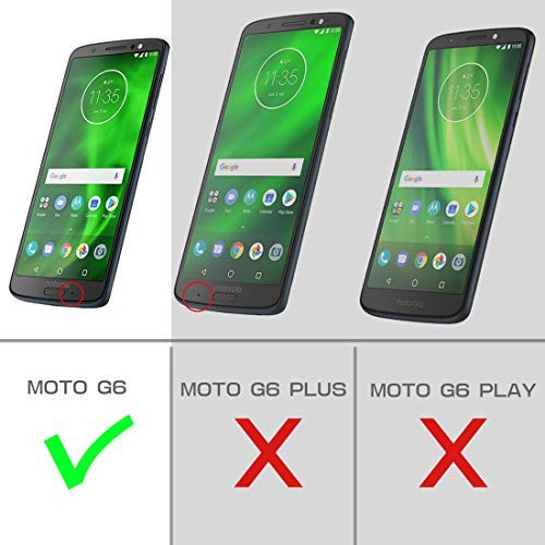 SupCase Full-Body Case for Moto G6, with Built-in Screen Protector Rugged Holster for Moto G6 5.7 Inch (2018 Release), Unicorn Beetle Pro Series ...