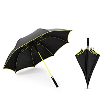 Sombrilla Paraguas De Golf para Hombre con Paraguas,Yellow