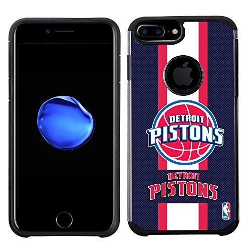 Det Pistons - NBA Detroit Pistons - Licensed Team Color Texture Case with Center Stripe Design for iPhone 8 Plus / 7 Plus / 6s Plus / 6 Plus