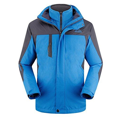 [Timeiya Men's Fleece Jackets for Outdoor Activities Two Piece Suit Winter] (Best Figure Skating Costumes)