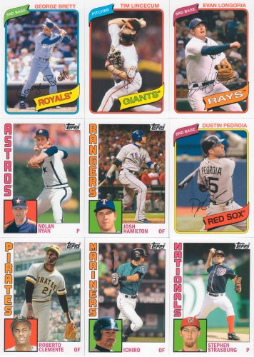 Baseball Series Complete Mint Basic 200 Card Set; It Was Never Issued in Factory Form. Absolutely Loaded with Hall of Famers, Stars and Rookies in Classic Topps Designs. Players Include Mickey Mantle, Albert Pujols, Jackie Robinson, Cal Ripken Jr., Ty Cobb, Lou Gehrig, Yoenis Cespedes, Joe DiMaggio, Yu Darvish Rookie Card, Derek Jeter, Stephen Strasburg, Babe Ruth and More. (2012 Topps Series)