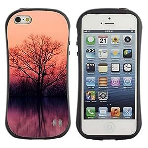 Pulsar iFace Series Tpu silicona Carcasa Funda Case para Apple iPhone 5 / iPhone 5S , Lake trees