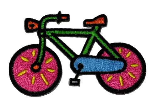 Bicycle Applique - Cute Bicycle DIY Applique Embroidered Sew Iron on Patch p#227