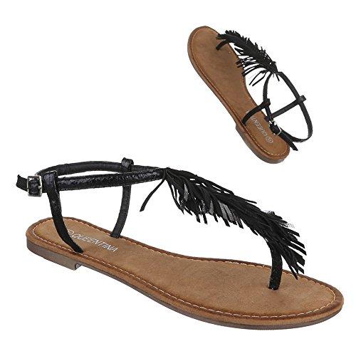 Design Noir Noir Ital femme Design Ital femme Sandales Sandales qC6FBn4