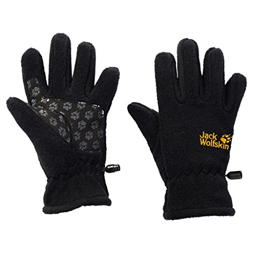 Jack Wolfskin Kinder Handschuhe Fleece Glove, Black, 152, 1901861-6000152
