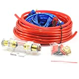 QUWEI 1500W 8GA Car Audio Subwoofer Amplifier Installation Kit AMP Wiring Fuse Holder Wire Cable Kit