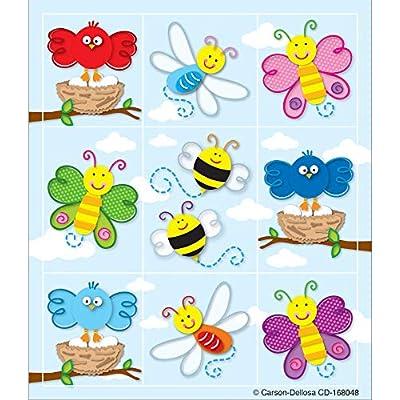 Carson Dellosa Education Spring Stickers   1-inch x 1-inch, 216ct, Multi, Model:168048: Carson-Dellosa Publishing: Office Products