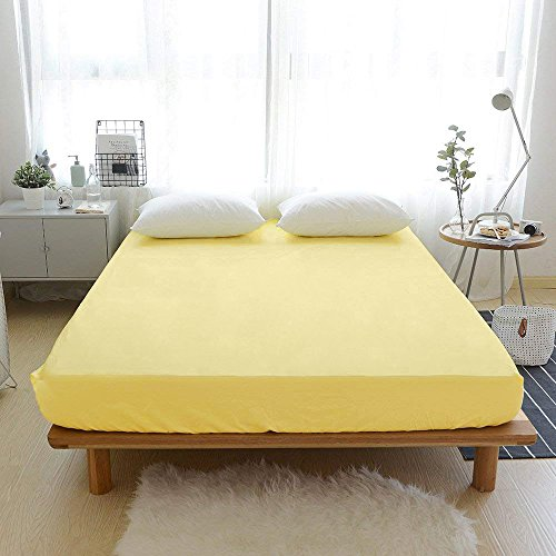 VM VOUGEMARKET Yellow King Fitted Sheet with 15