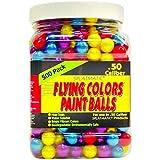 Splatmatic .50 Caliber 500 Count Paintballs, Assorted Colors