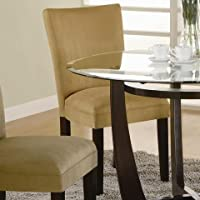 Modern Yellow Parson Chair (Set of 2) by Coaster Furniture
