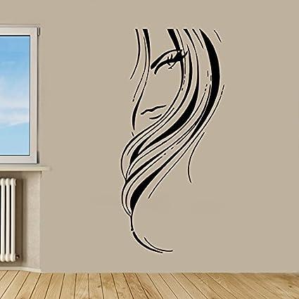 Amazoncom Wall Decor Vinyl Decal Sticker Fashion Girl Hairdo - Decor-uas