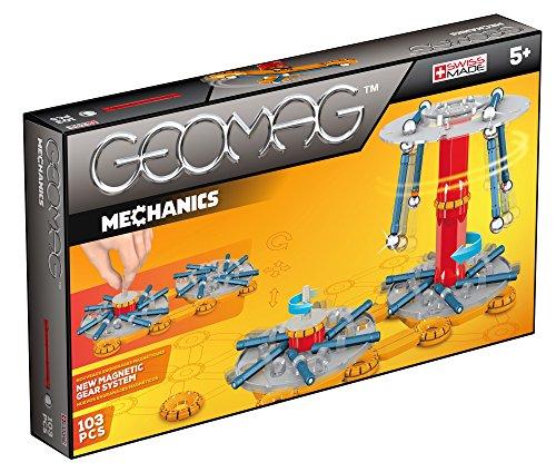Geomag Mechanics Kit (103 Piece), Blue/Orange/Red, One Size
