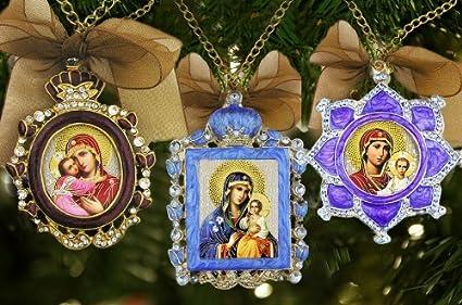 Russia Christmas Ornaments.Amazon Com Religious Gifts 3 Russian Christmas Ornaments