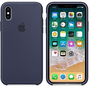 Capa Iphone X Silicone Case Azul Escuro