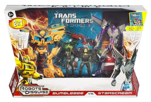 [해외] TRANSFORMERS - PRIME - BUMBLEBEE VS STARSCREAM - INCLUDES EXCLUSIVE CHARACTER BOOKLET! - ENTERTAINMENT PACK !